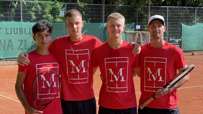 Naša mlada članska ekipa se bo borila za napredovanje v 1. moško člansko teniško ligo